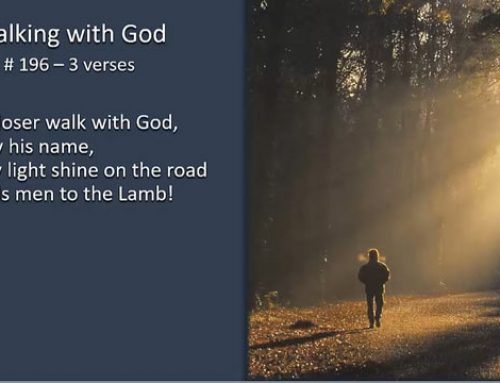 196. Walking With God (Song)