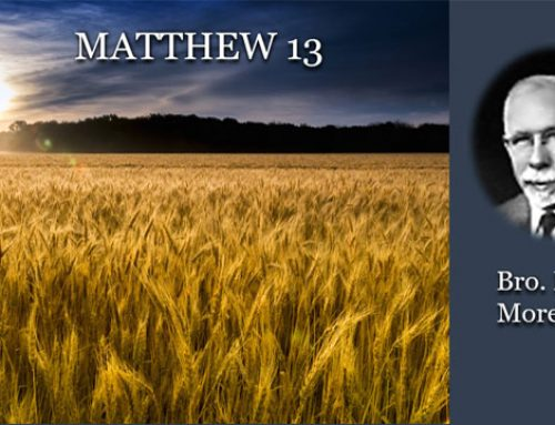 Matthew 13 – Daniel Morehouse